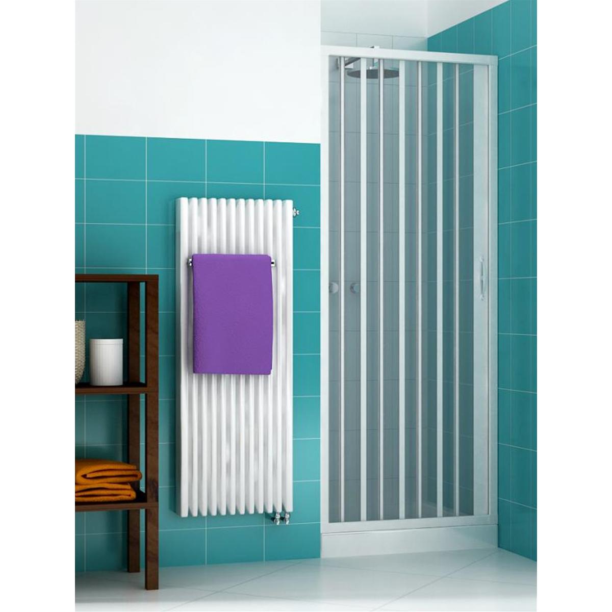 Porta doccia soffietto per box doccia nicchia profilo riducibile da 140 a 60 cm ebay - Box doccia salvaspazio ...