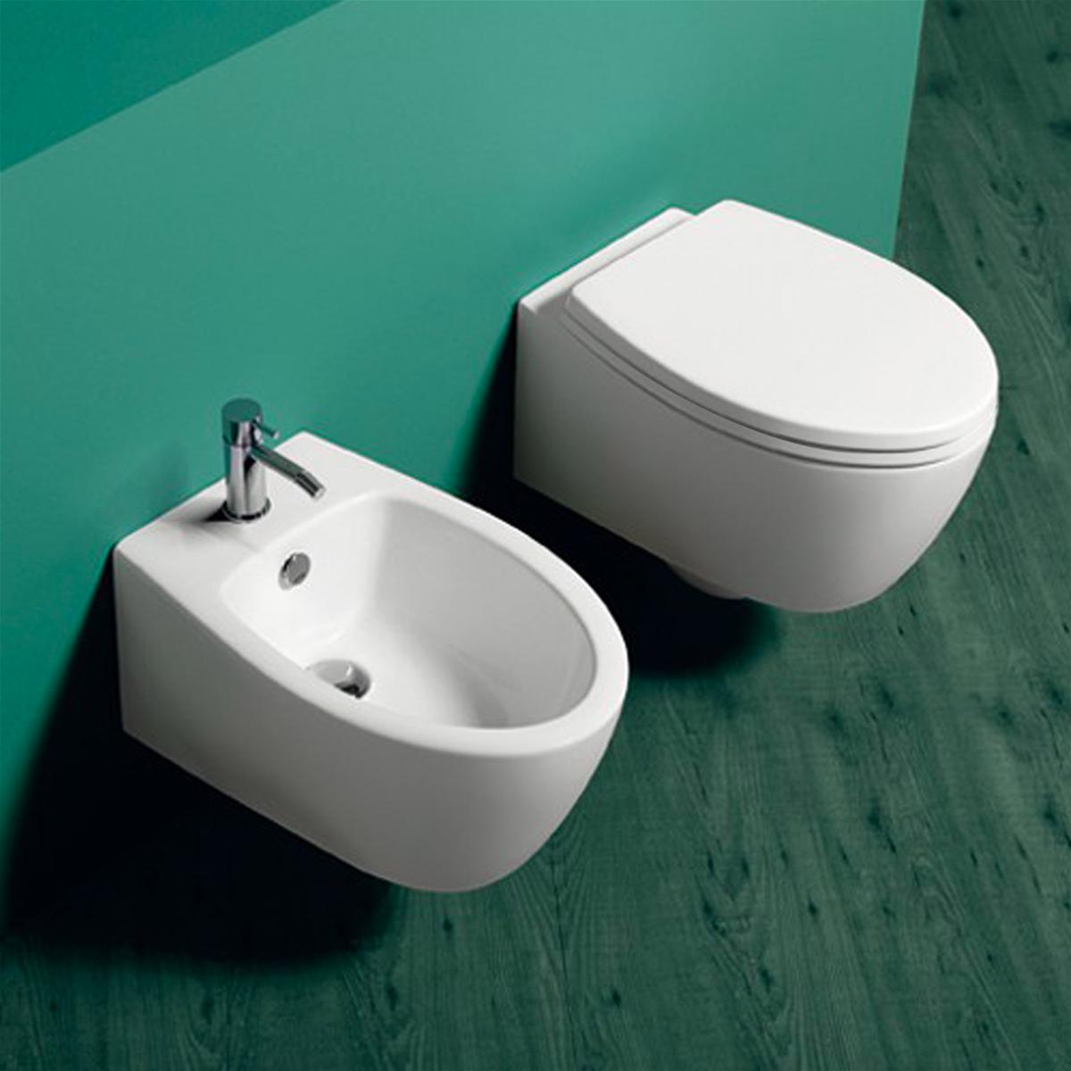 Sanitari sospesi vaso wc bidet e sedile serie simas lft for Sanitari sospesi